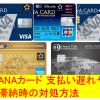 ANAカード 支払い遅れや滞納時の対処方法